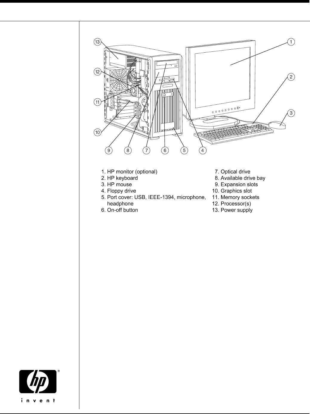 HP (Hewlett-Packard) Personal Computer xw8000 User Guide