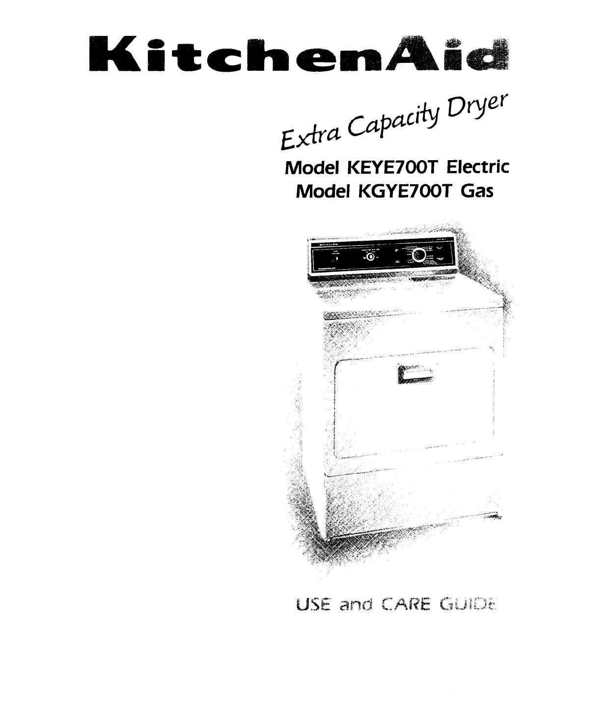 KitchenAid Washer/Dryer KEYE700T User Guide