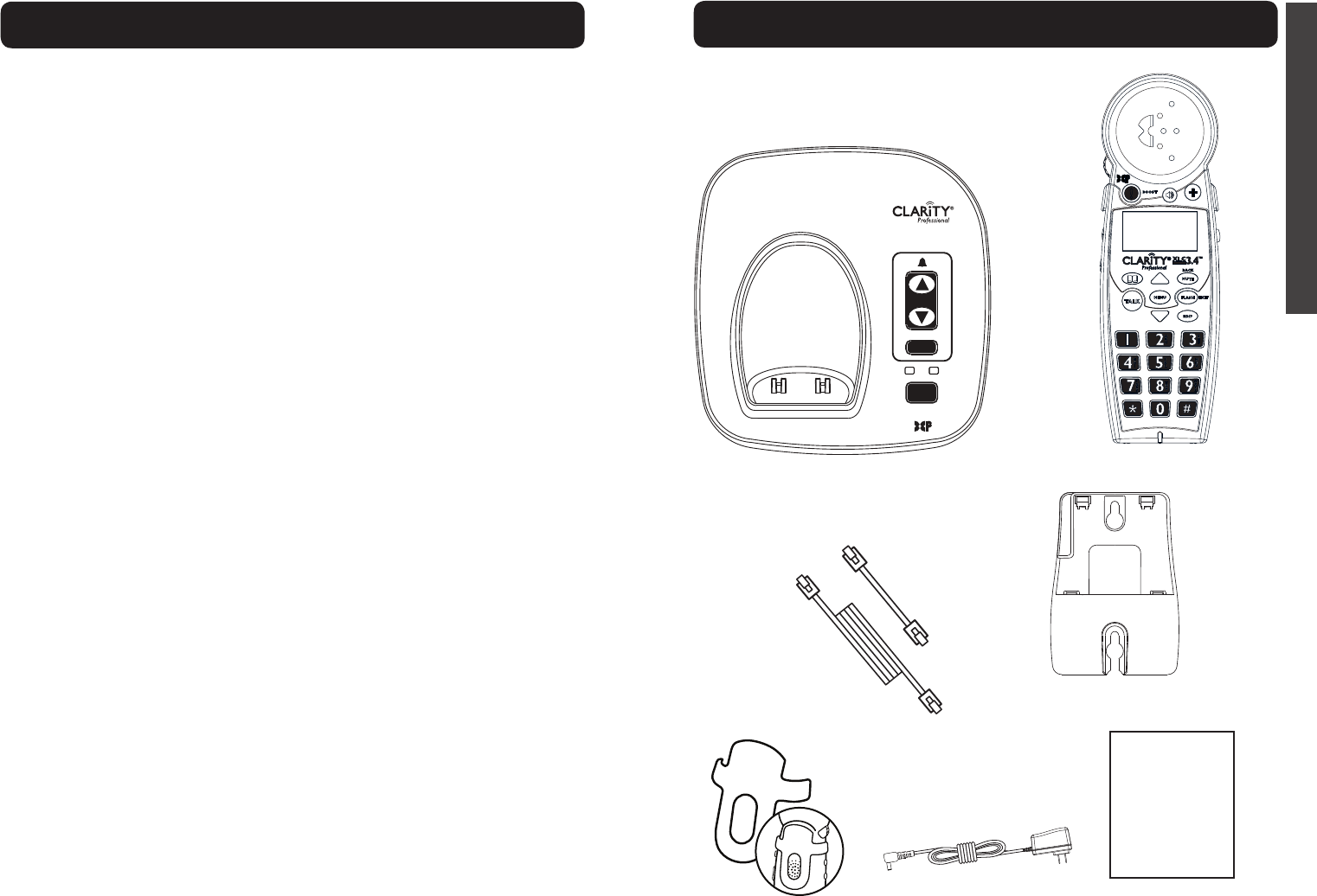 Page 4 of Clarity Cordless Telephone XLC 3.4 User Guide