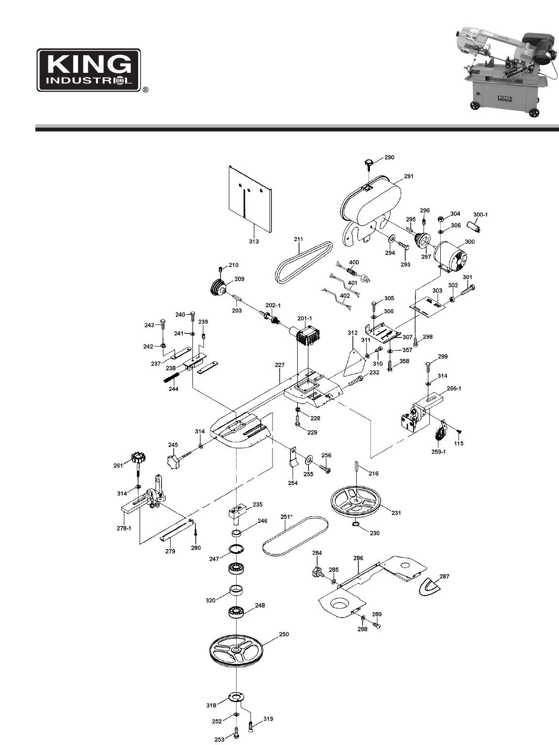 Page 2 of King Canada Saw KC-712BC User Guide