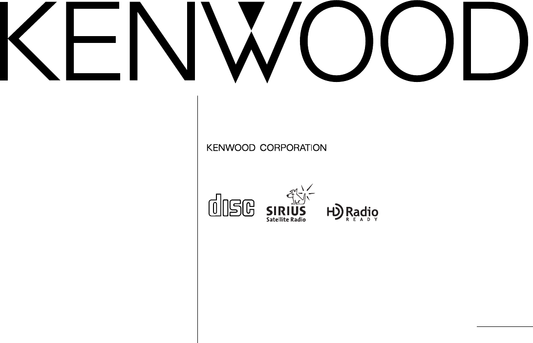 Kenwood Car Stereo System KDC-722 User Guide