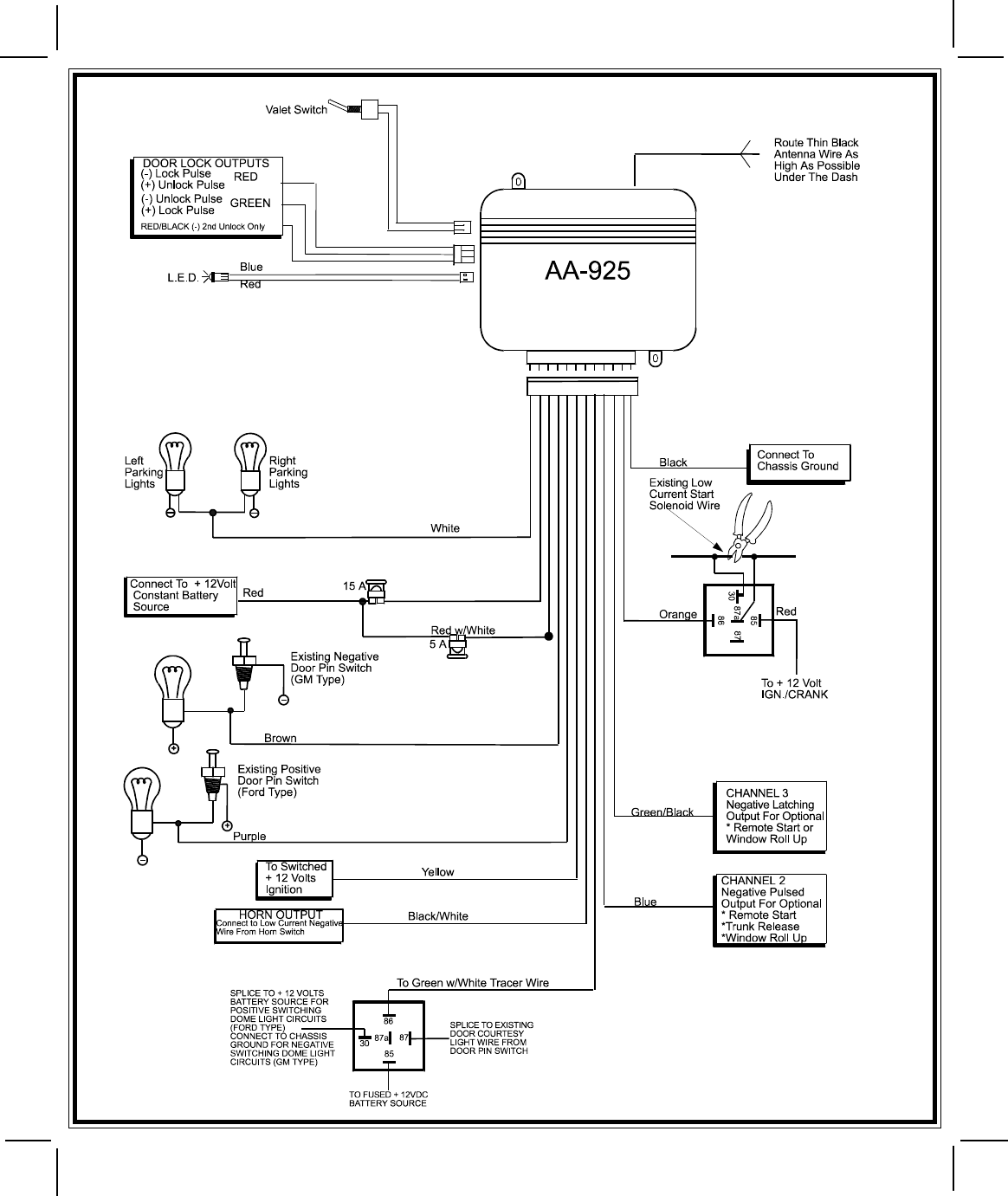 Page 8 of Audiovox Automobile Alarm AA925 User Guide