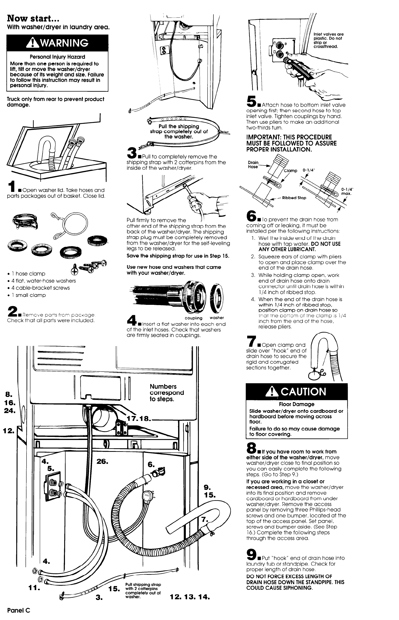 Page 4 of Whirlpool Washer/Dryer 3389591 User Guide