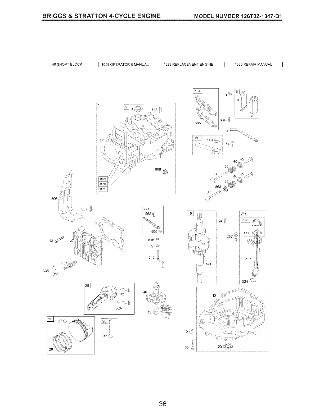 Page 36 of Craftsman Lawn Mower 917.389062 User Guide