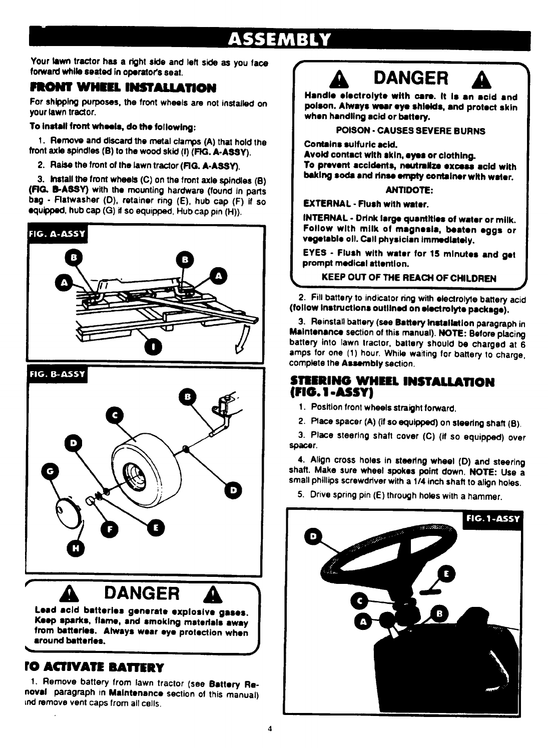 Page 4 of Bolens Lawn Mower 13049 User Guide