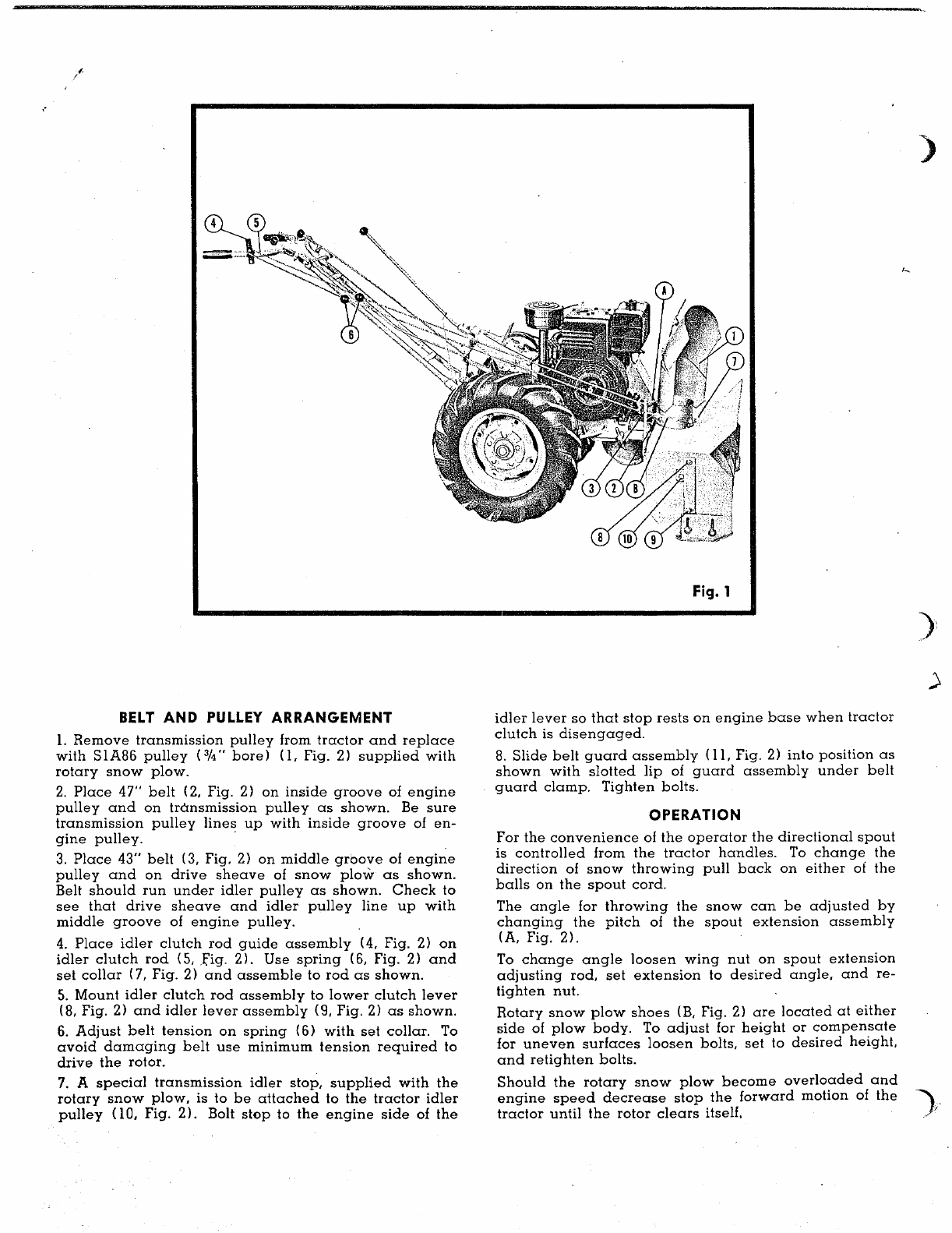 Page 2 of Simplicity Snow Blower Attachment 990151 User