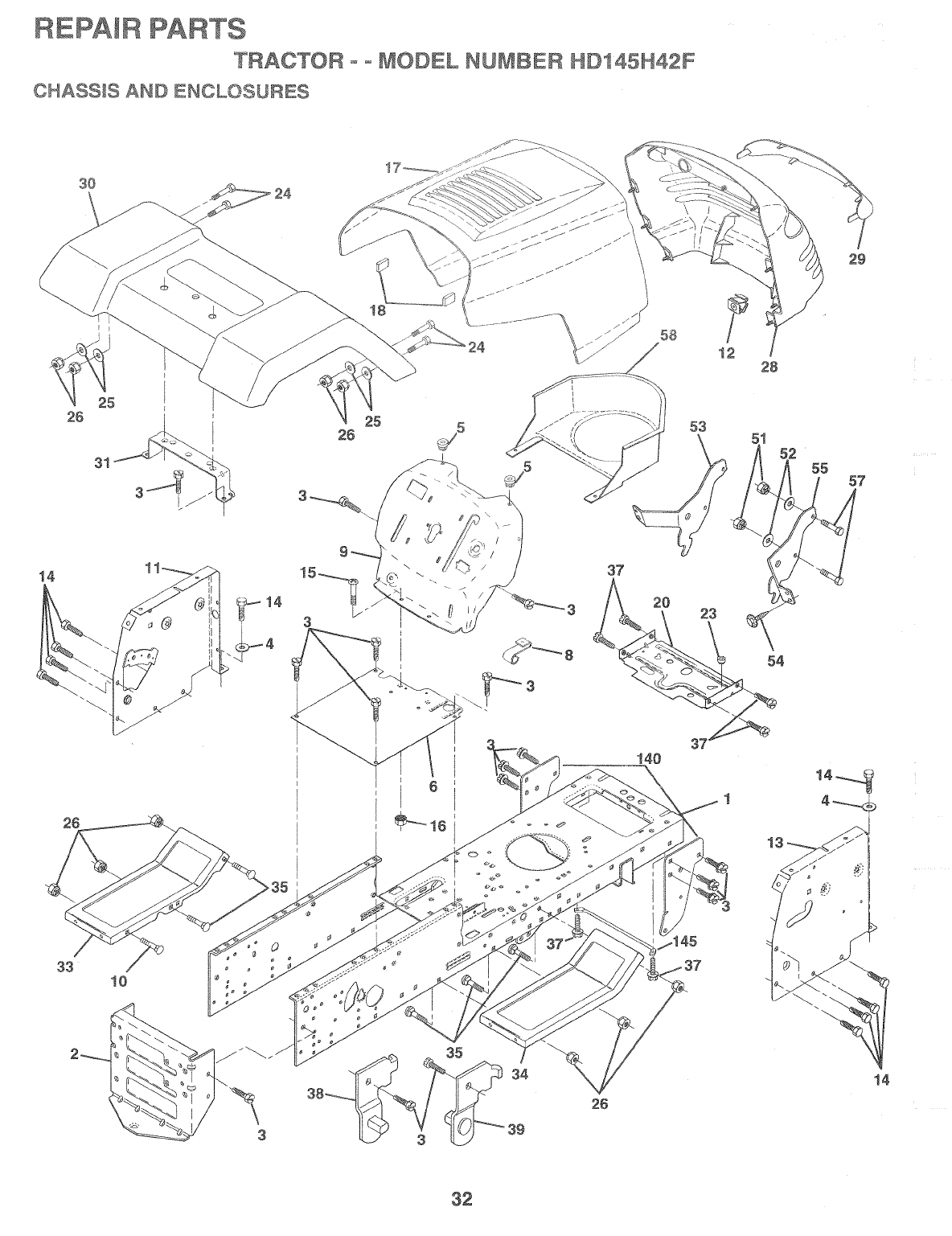 Page 32 of Poulan Lawn Mower HD145H42F User Guide