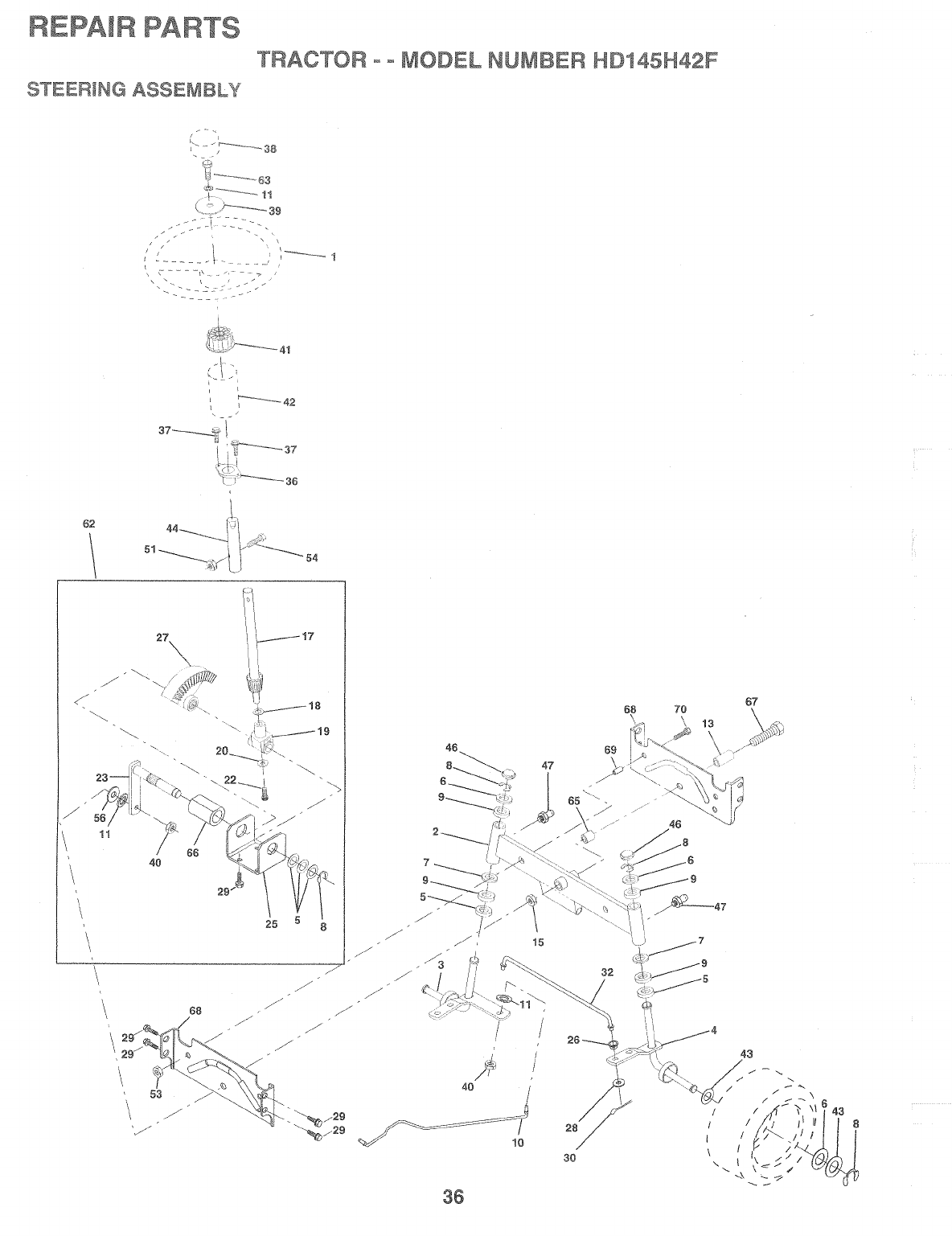 Page 36 of Poulan Lawn Mower HD145H42F User Guide