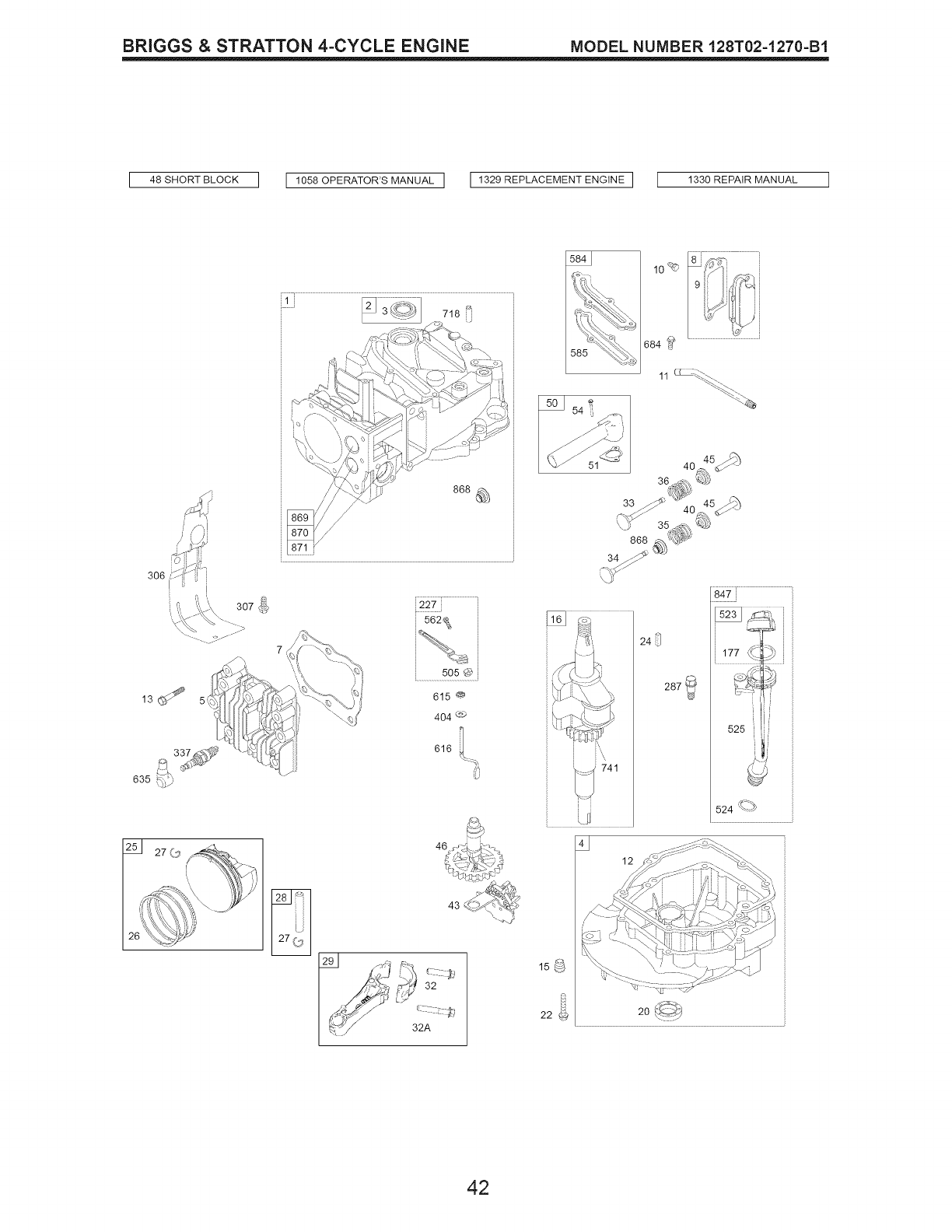 Page 42 of Craftsman Lawn Mower 917.374541 User Guide