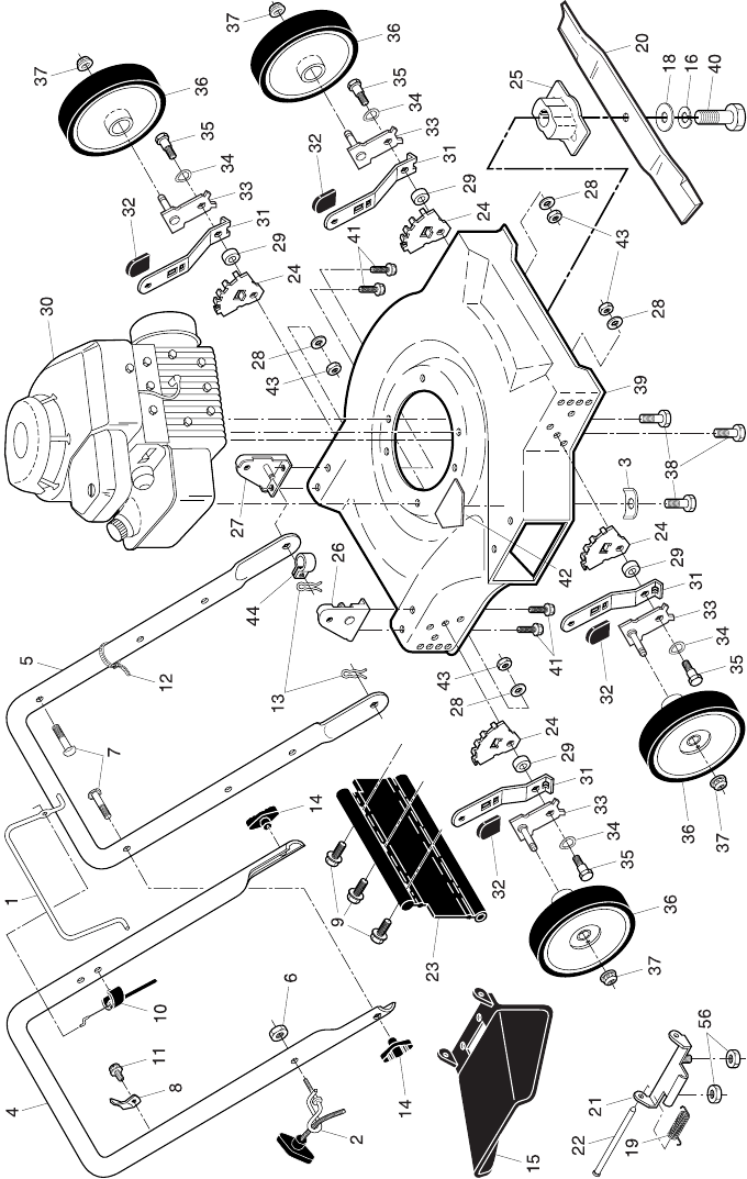 Page 2 of Poulan Lawn Mower PO450N20S User Guide