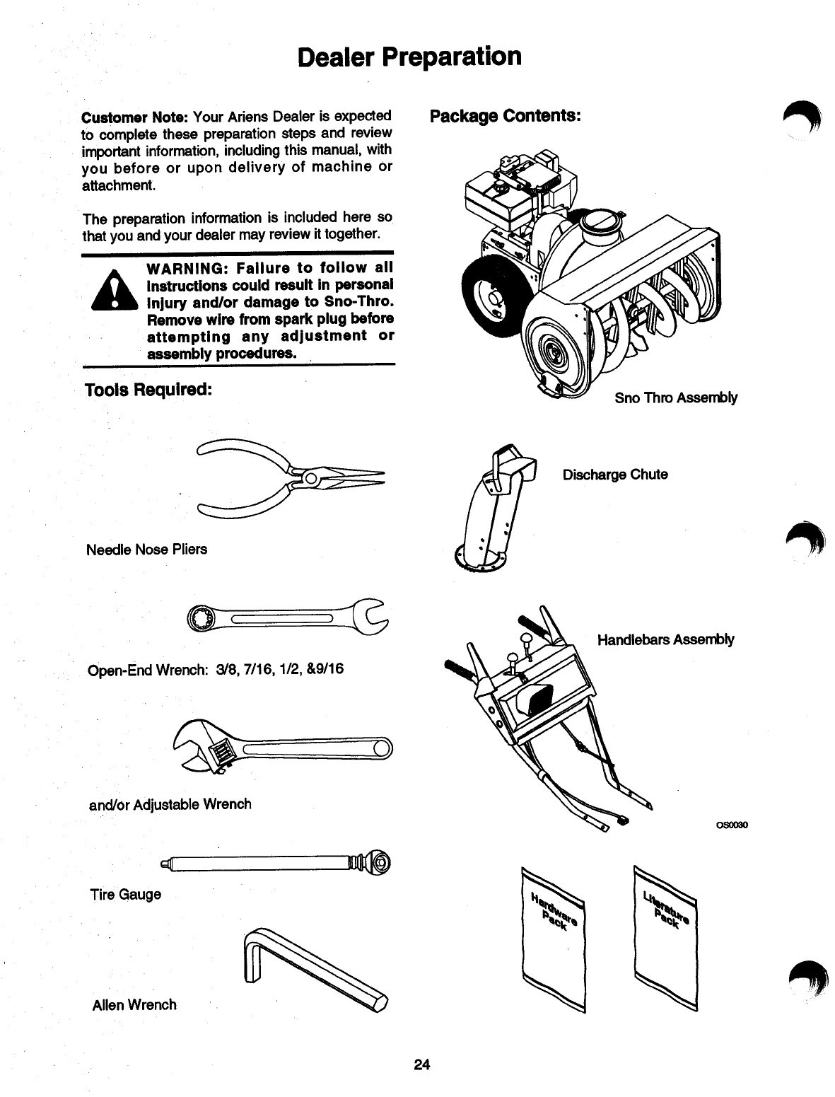 Page 26 of Ariens Snow Blower 084-ST1032 User Guide