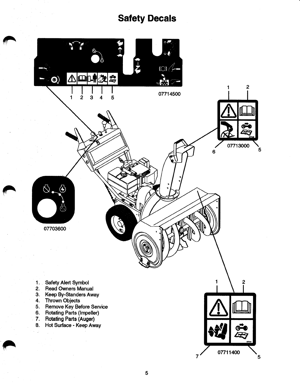 Page 7 of Ariens Snow Blower 082-ST824 User Guide