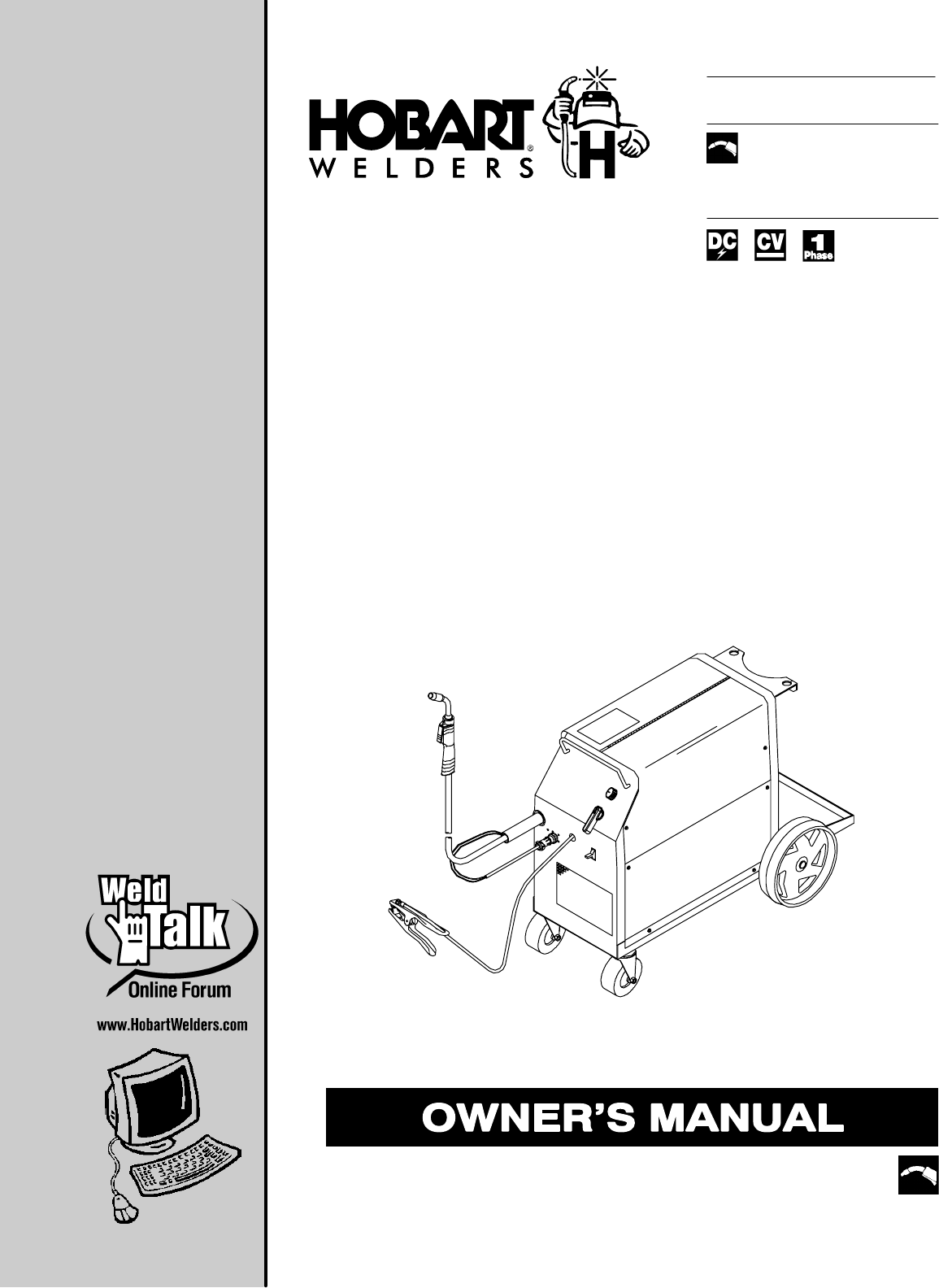 Hobart Welding Products Welder 210 User Guide