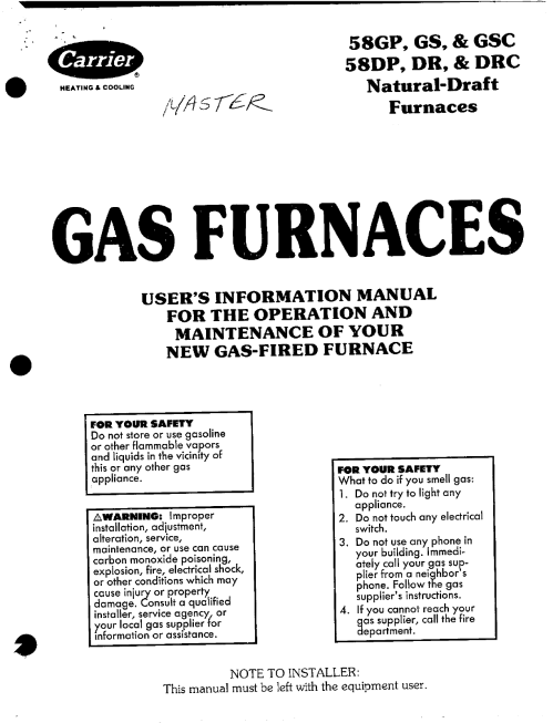 small resolution of carrier 58gs furnace user manual