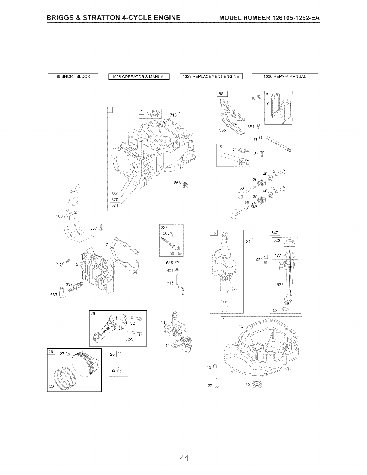 Page 44 of Craftsman Lawn Mower 917.376531 User Guide