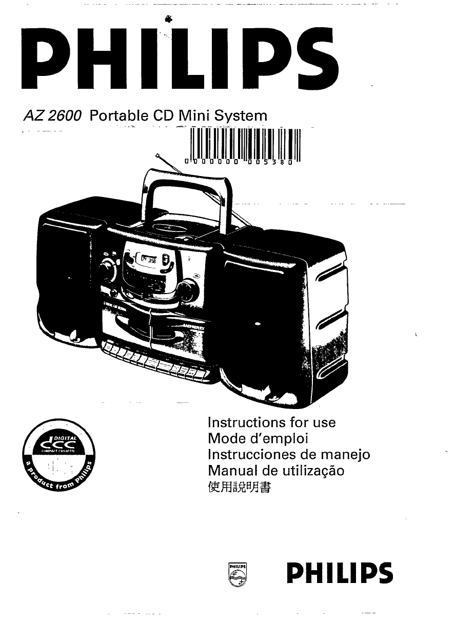 Magnavox Portable CD Player AZ 2600 User Guide