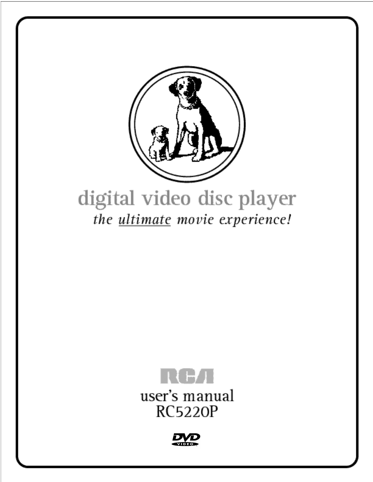 Rca Dvd Player Rc P User Guide