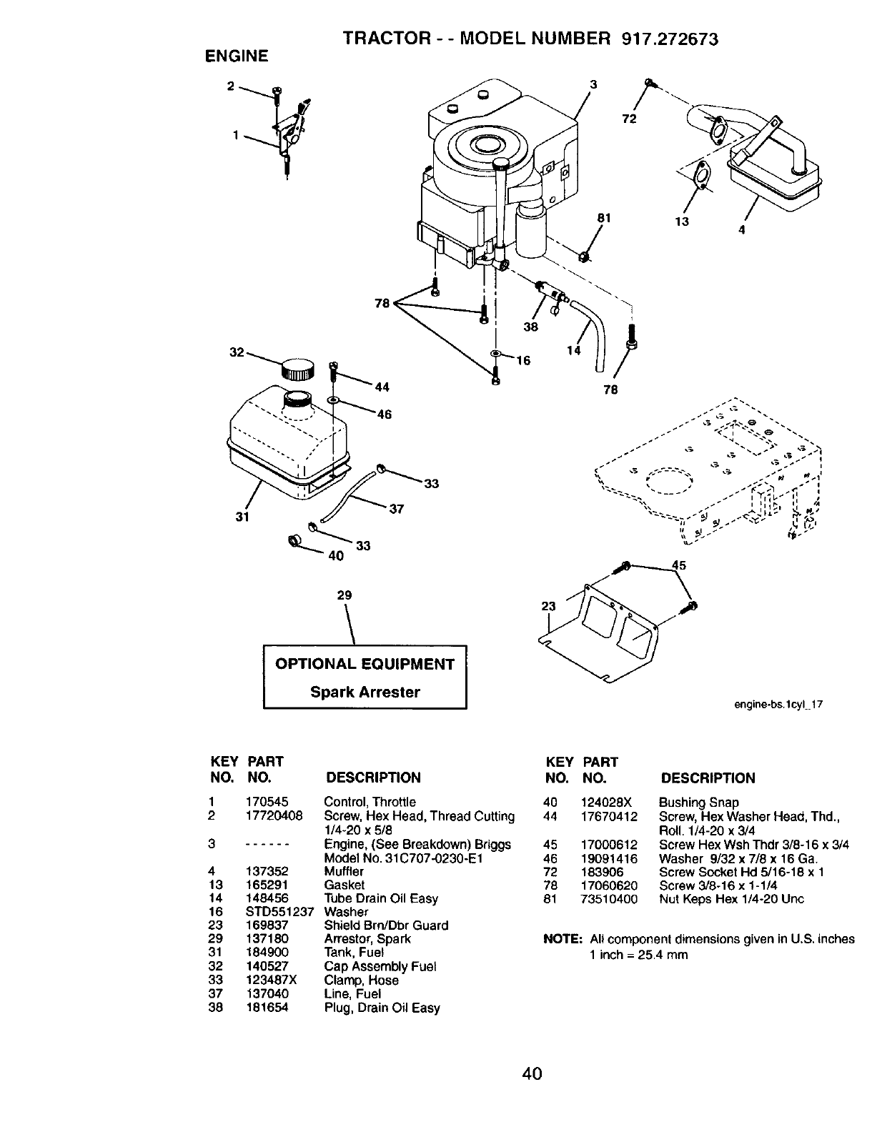 Page 40 of Craftsman Lawn Mower 917272673 User Guide