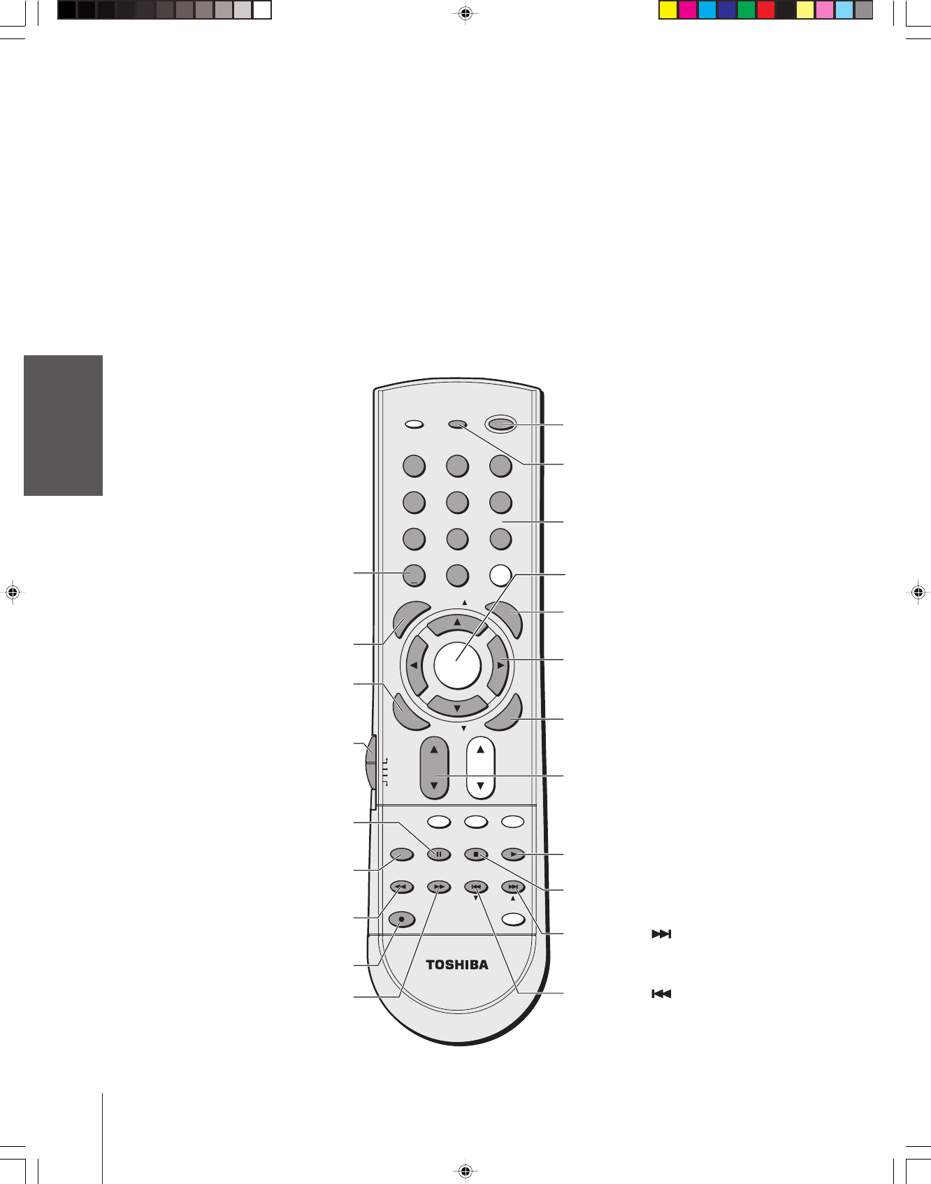 Page 20 of Toshiba Projection Television 65H84 User Guide