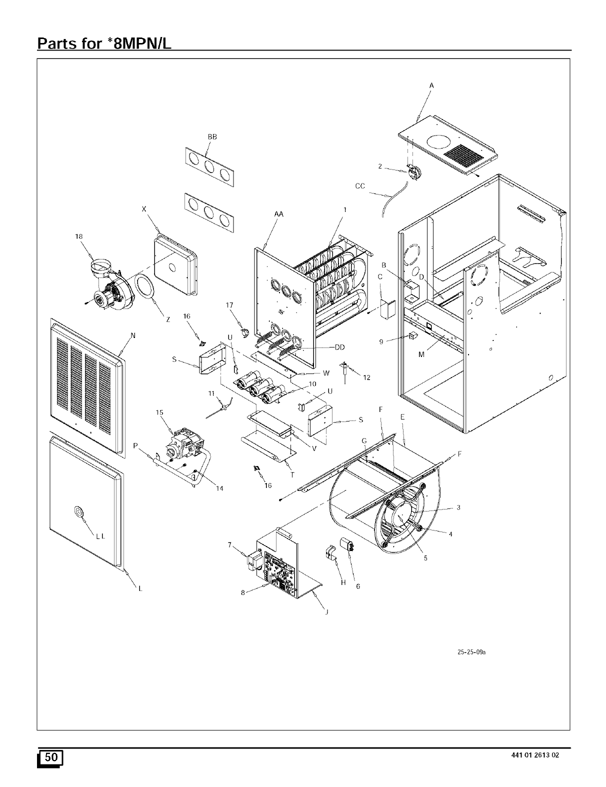Page 50 of Sears Furnace N8MPN075B12B1 User Guide