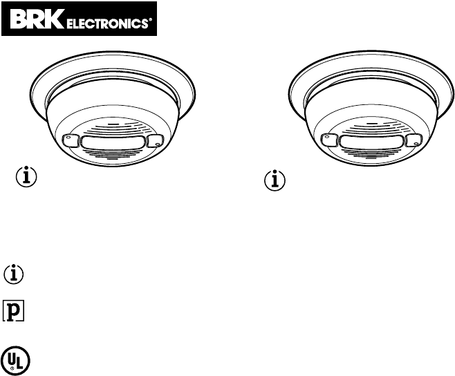 BRK electronic Smoke Alarm 4120B User Guide