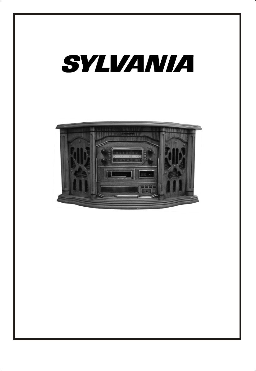 Sylvania Cassette Player SRCD822 User Guide