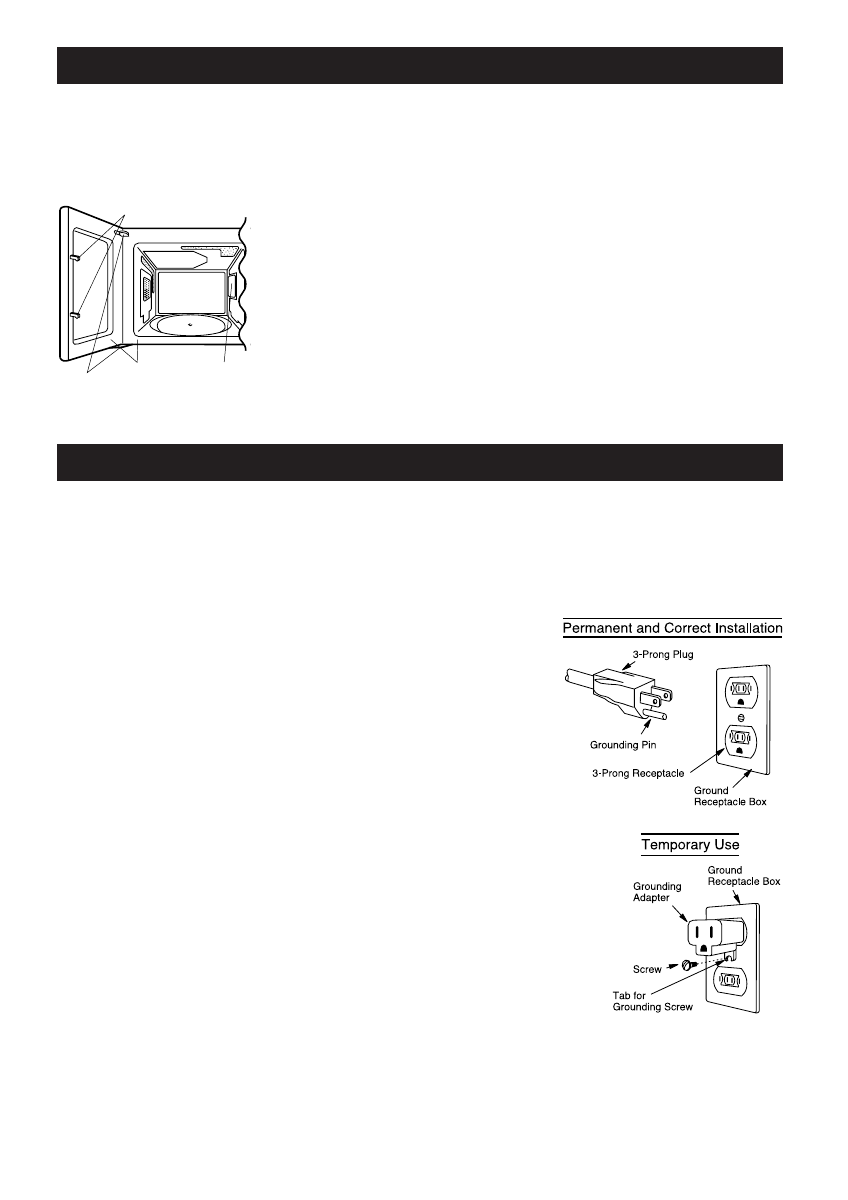 Page 5 of Sharp Microwave Oven 203H User Guide