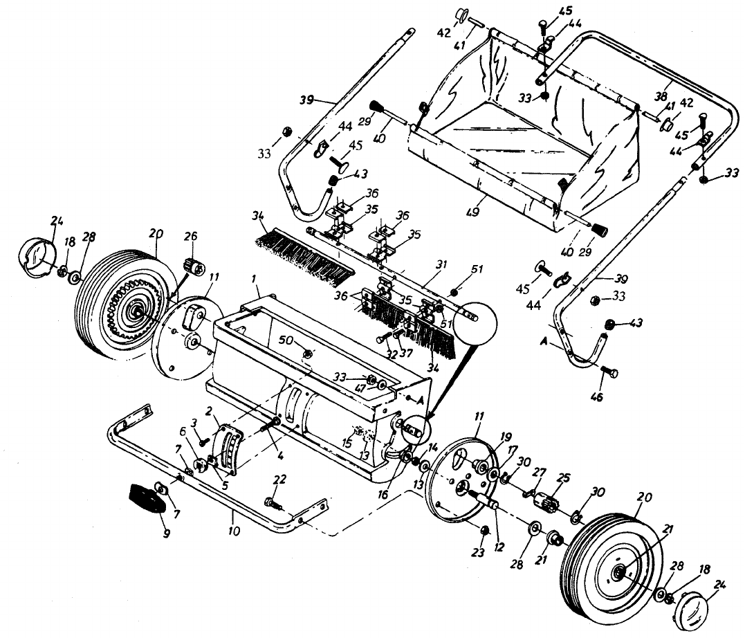 Page 8 of Sears Lawn Sweeper 45-02181 User Guide
