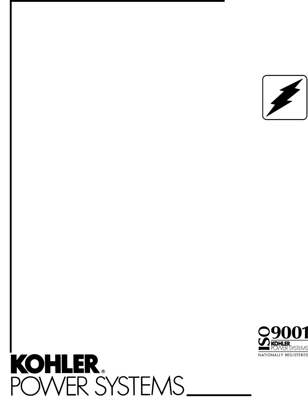 Kohler Portable Generator 12RESM1 User Guide