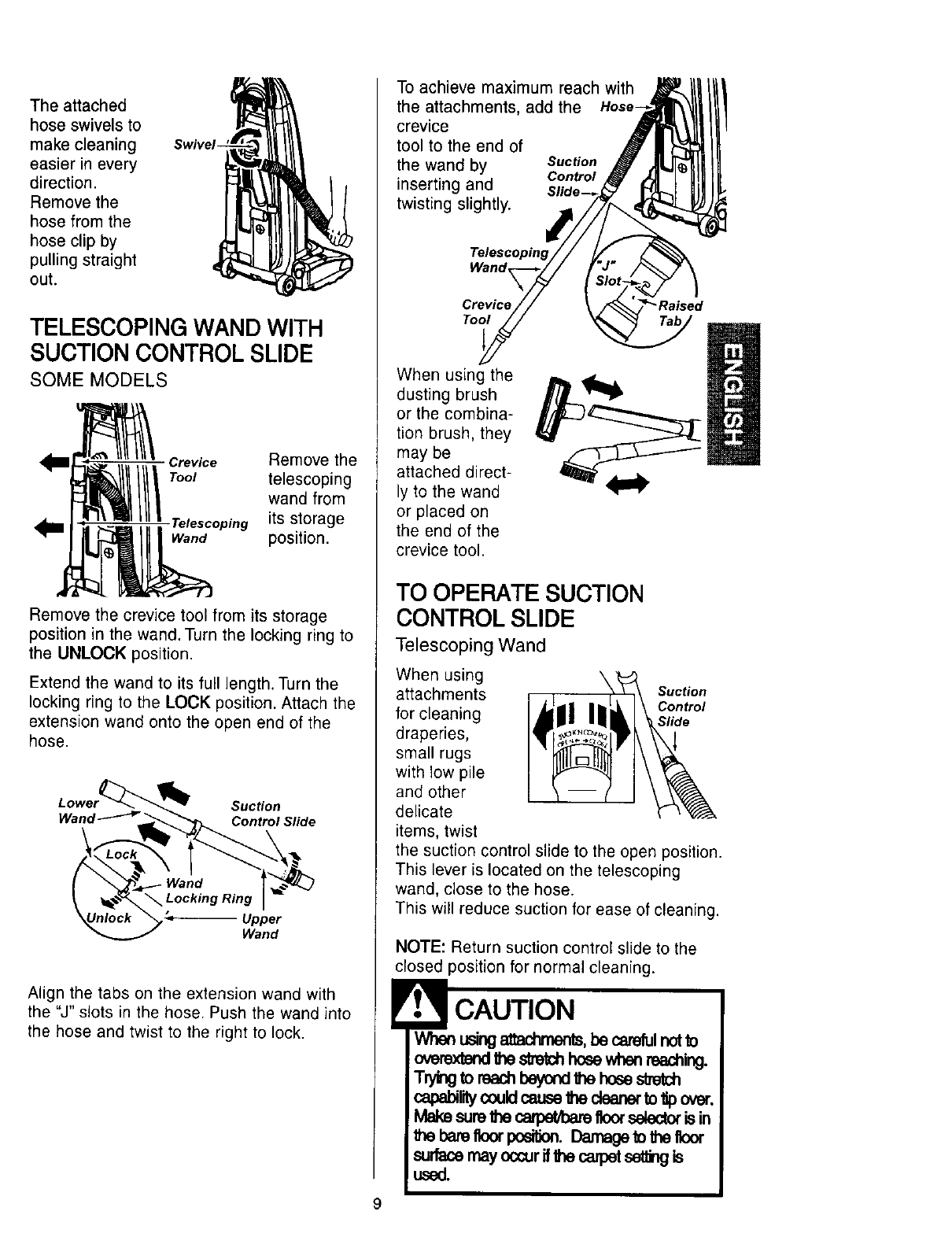Page 9 of Kenmore Vacuum Cleaner 116.34612 User Guide