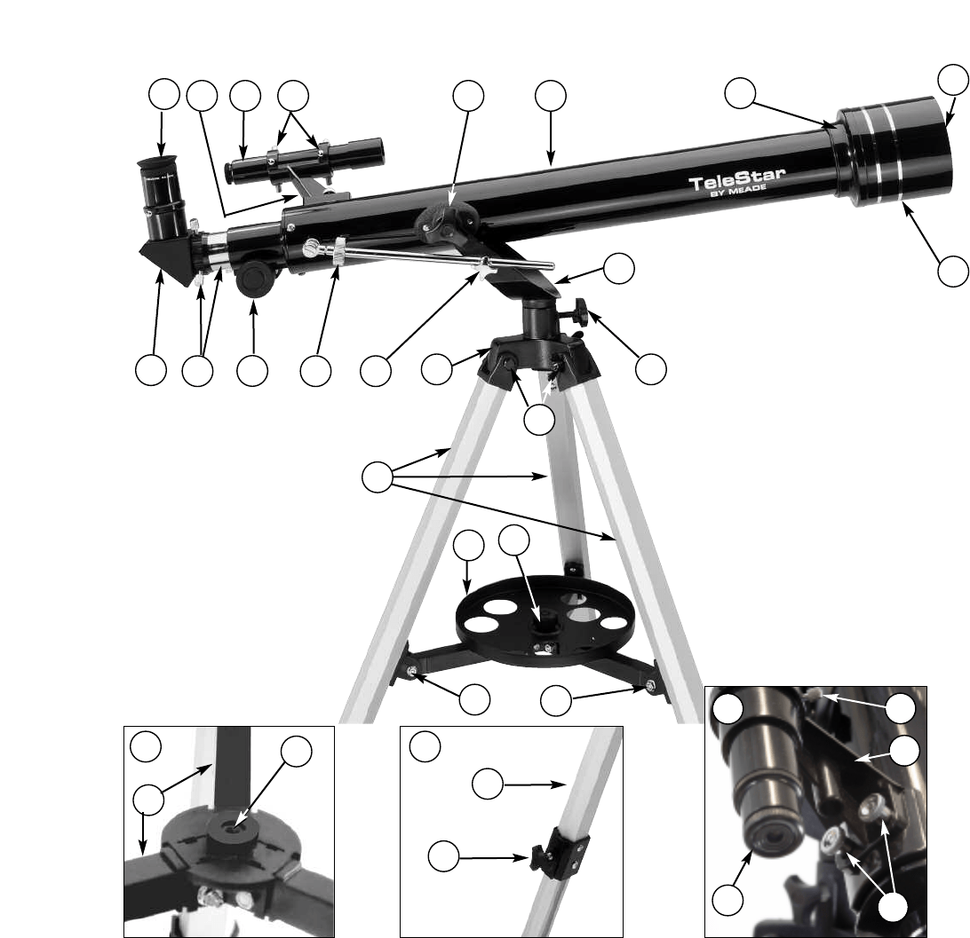 Page 4 of Meade Telescope 60AZ-A User Guide