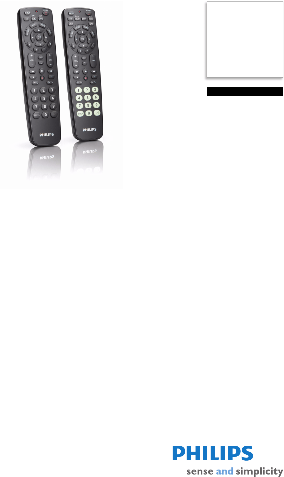 Philips Universal Remote SRC2063WM/17 User Guide