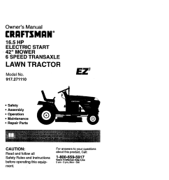 craftsman lawn mower 917 271110 user guide manualsonline [ 1190 x 1682 Pixel ]