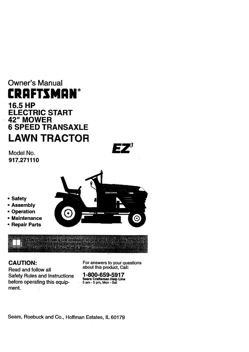 medium resolution of craftsman lawn mower 917 271110 user guide manualsonline
