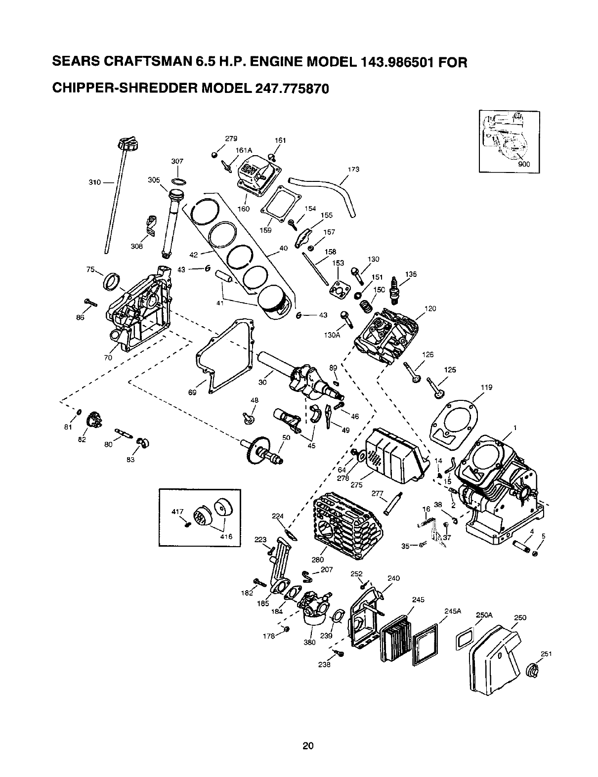 Page 20 of Craftsman Chipper 247.775870 User Guide