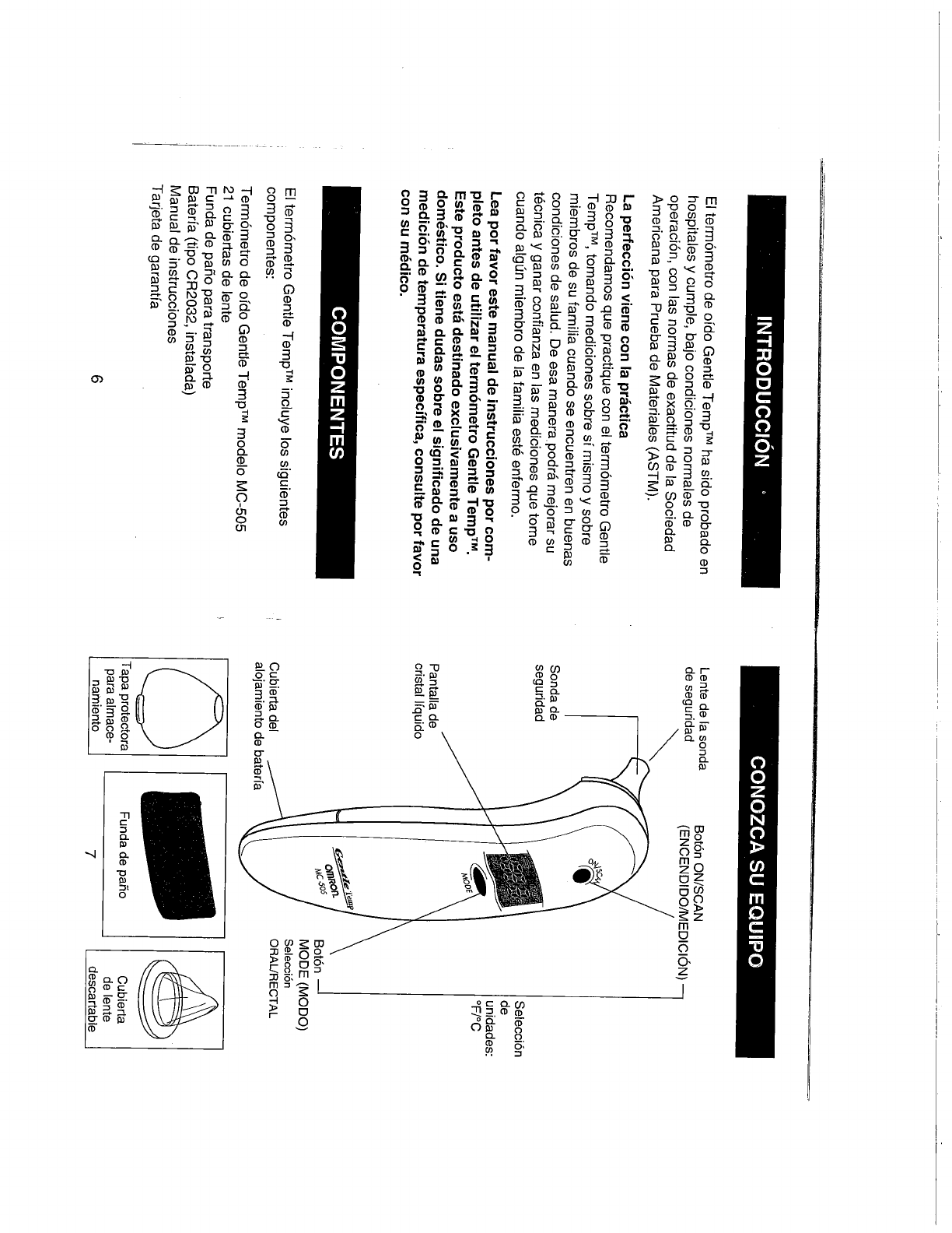 Page 12 of Omron Healthcare Thermometer MC-505 User Guide