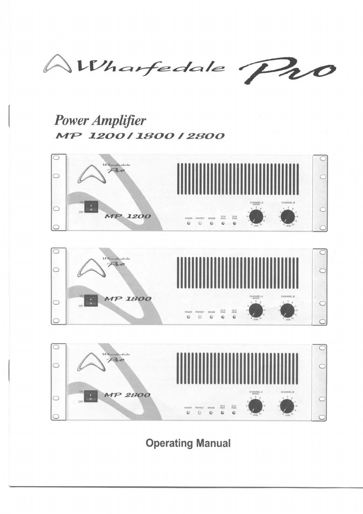 Wharfedale Stereo Amplifier MP 1800 User Guide