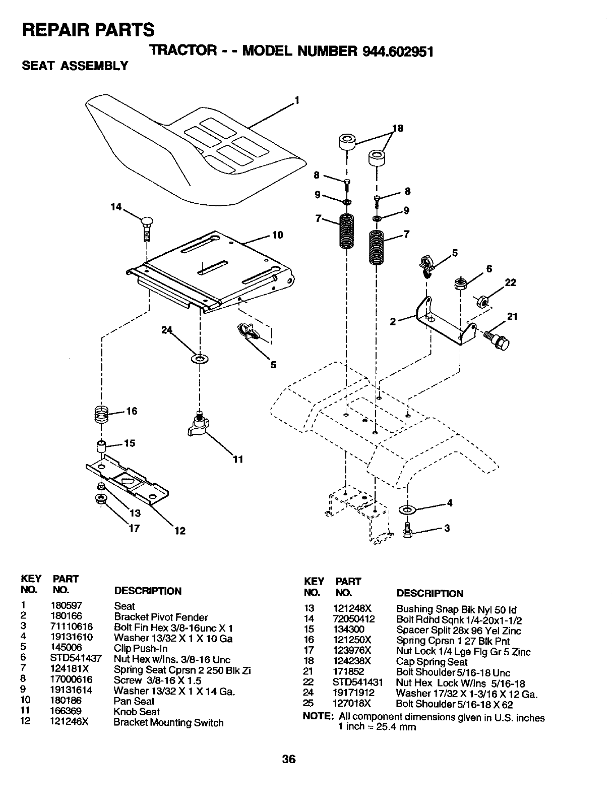 Page 36 of Craftsman Lawn Mower 944.602951 User Guide