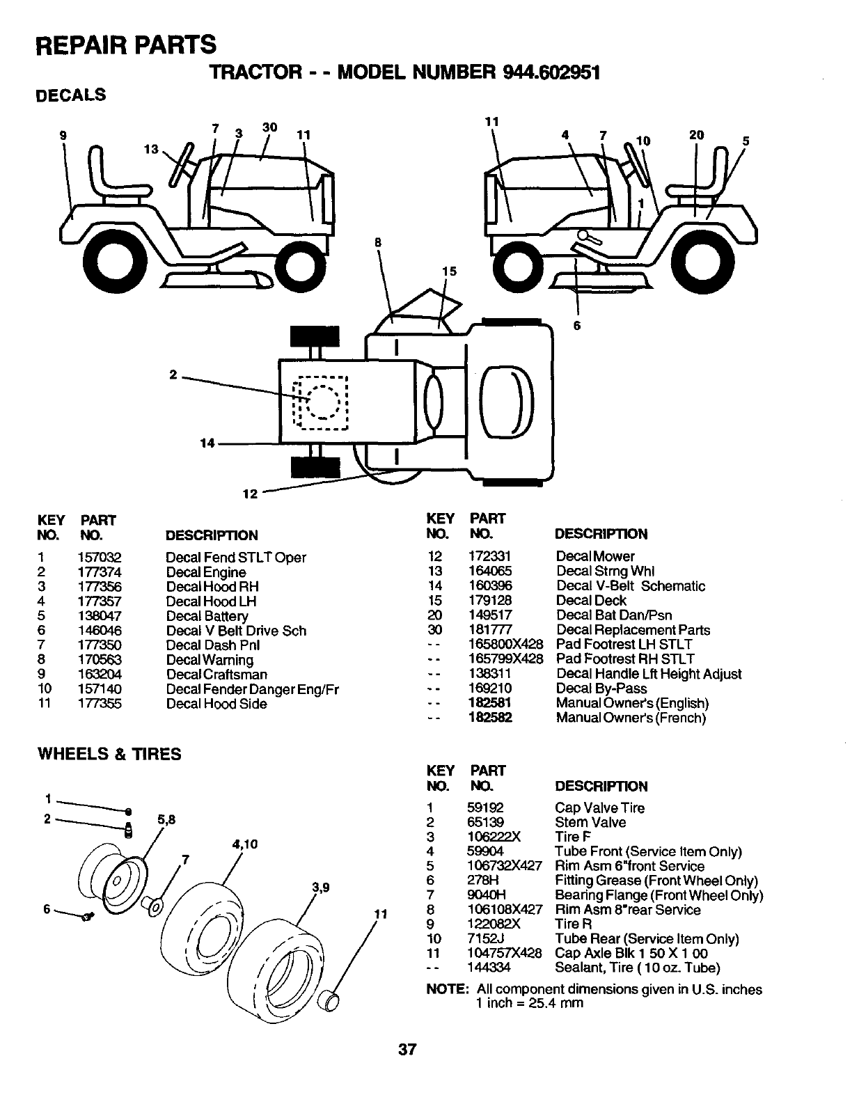 Page 37 of Craftsman Lawn Mower 944.602951 User Guide