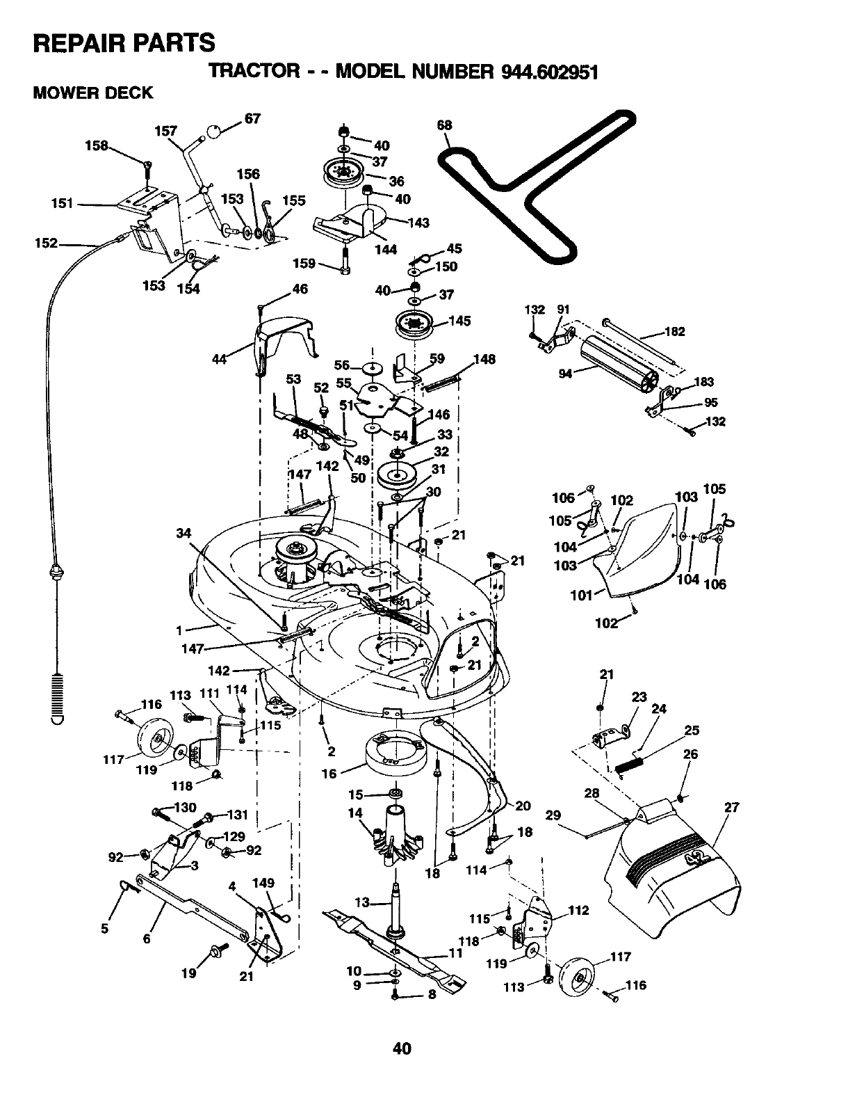 Page 40 of Craftsman Lawn Mower 944.602951 User Guide