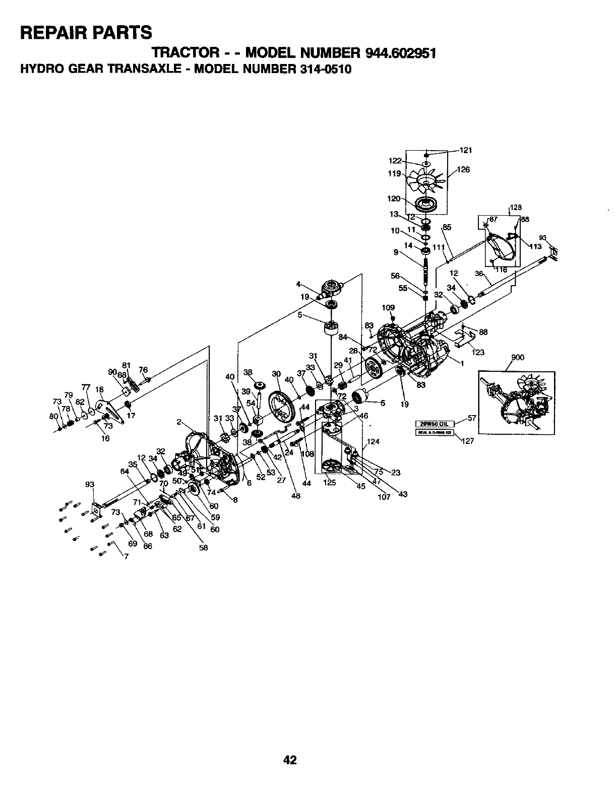 Page 42 of Craftsman Lawn Mower 944.602951 User Guide
