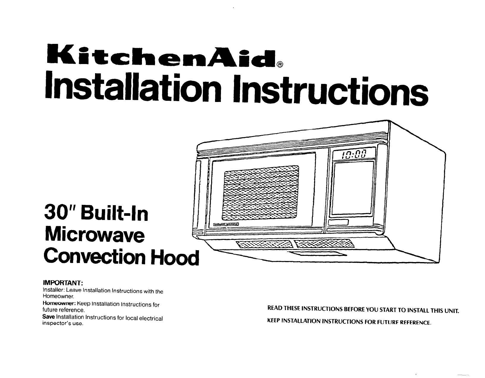 Kitchenaid Microwave Oven User Guide