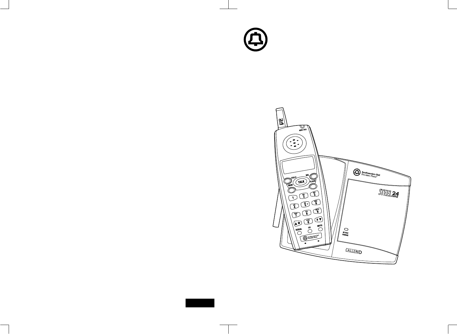 Southwestern Bell Cordless Telephone GH3010S User Guide