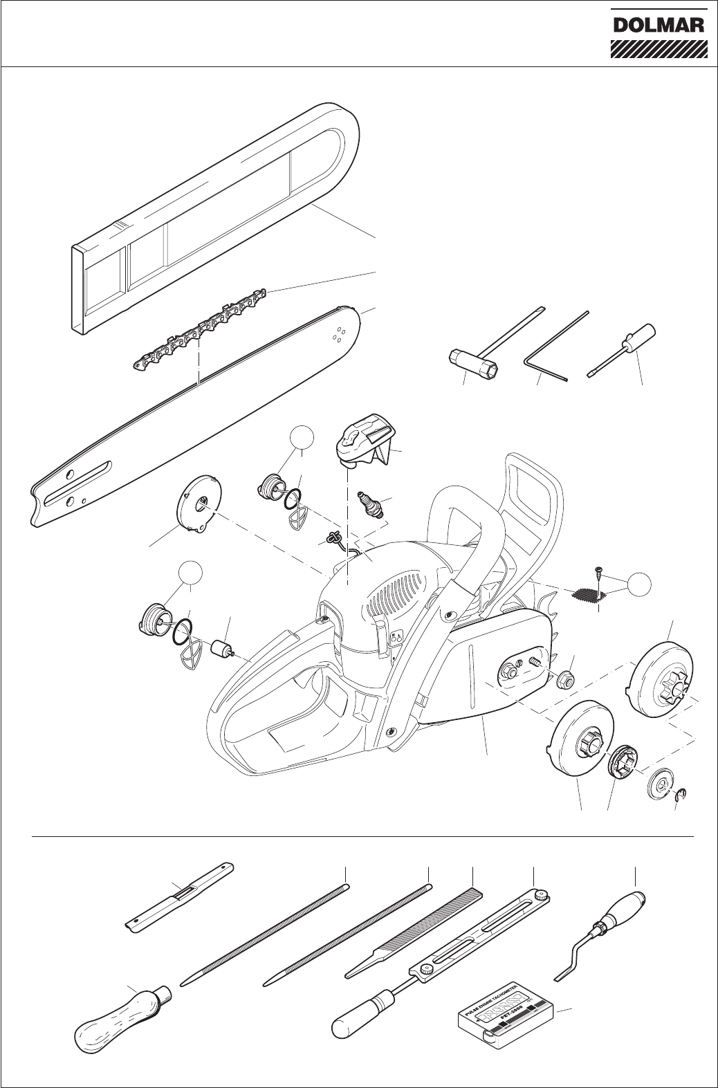 Page 38 of Dolmar Chainsaw PS-460 User Guide