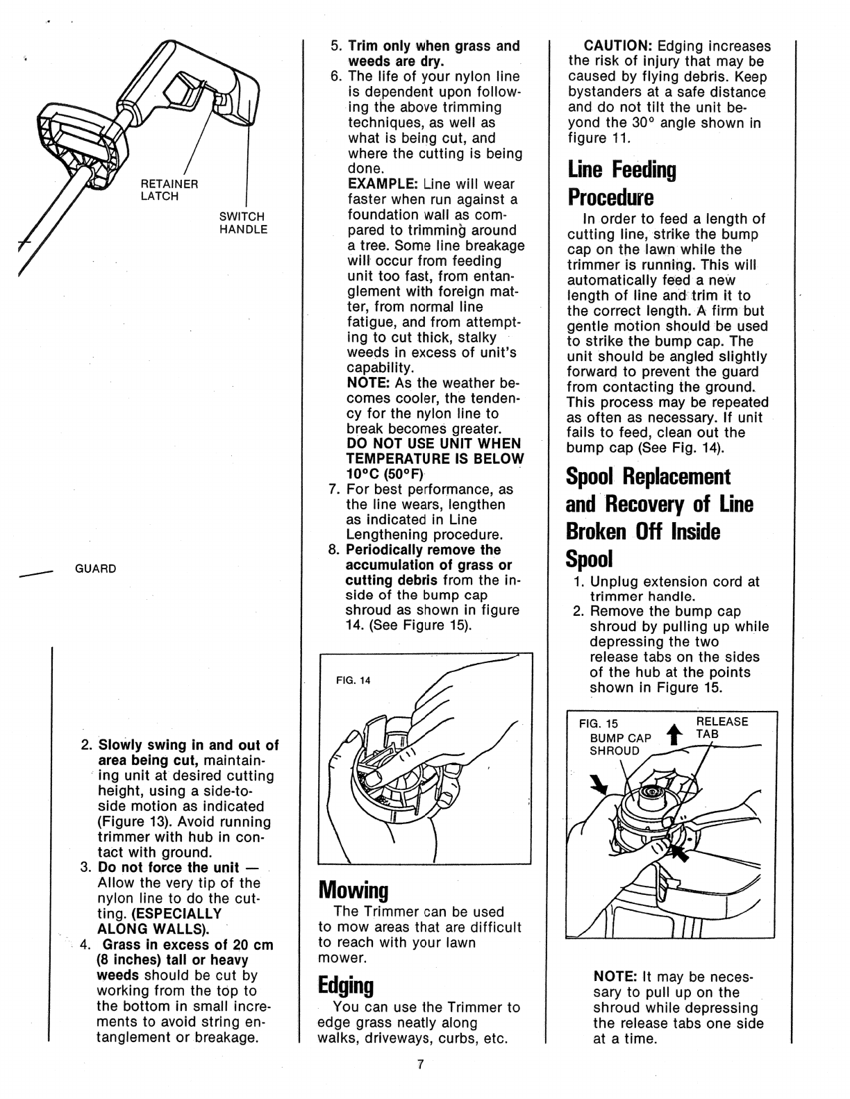 Page 7 of Black & Decker Trimmer 82310-04 User Guide