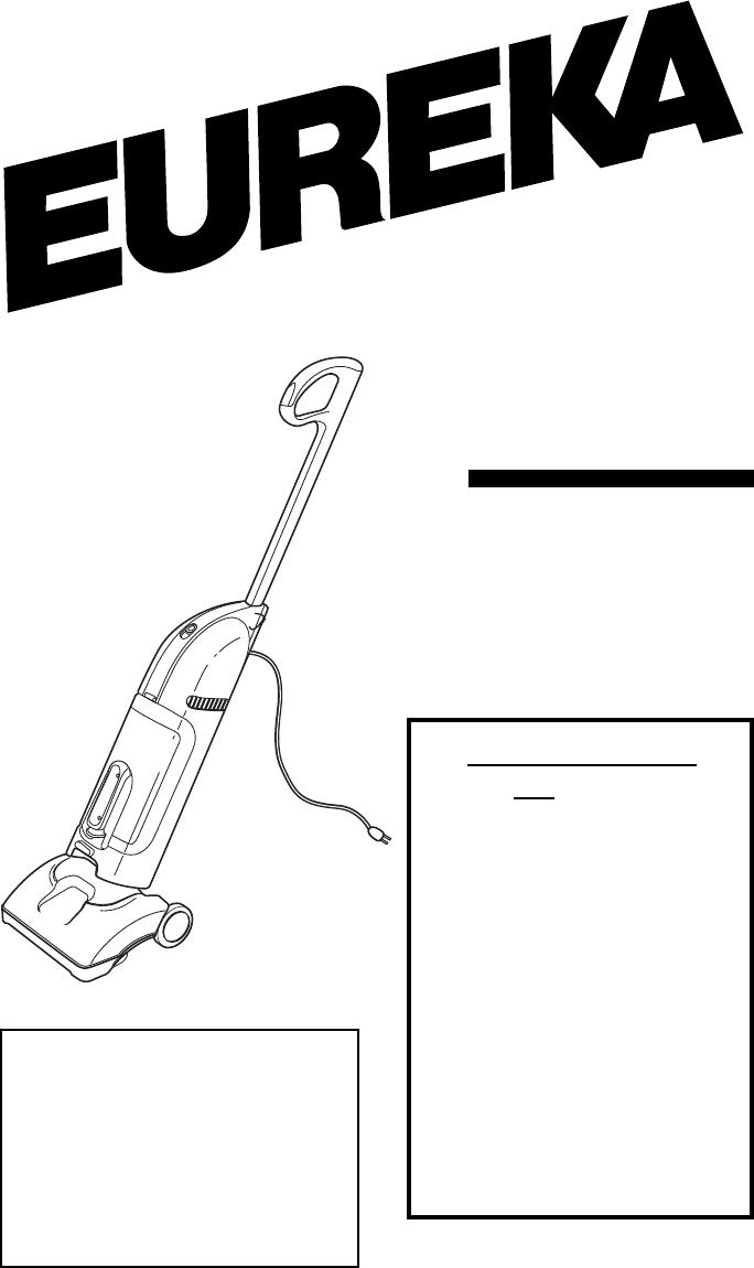 Eureka Vacuum Cleaner 400 Series User Guide