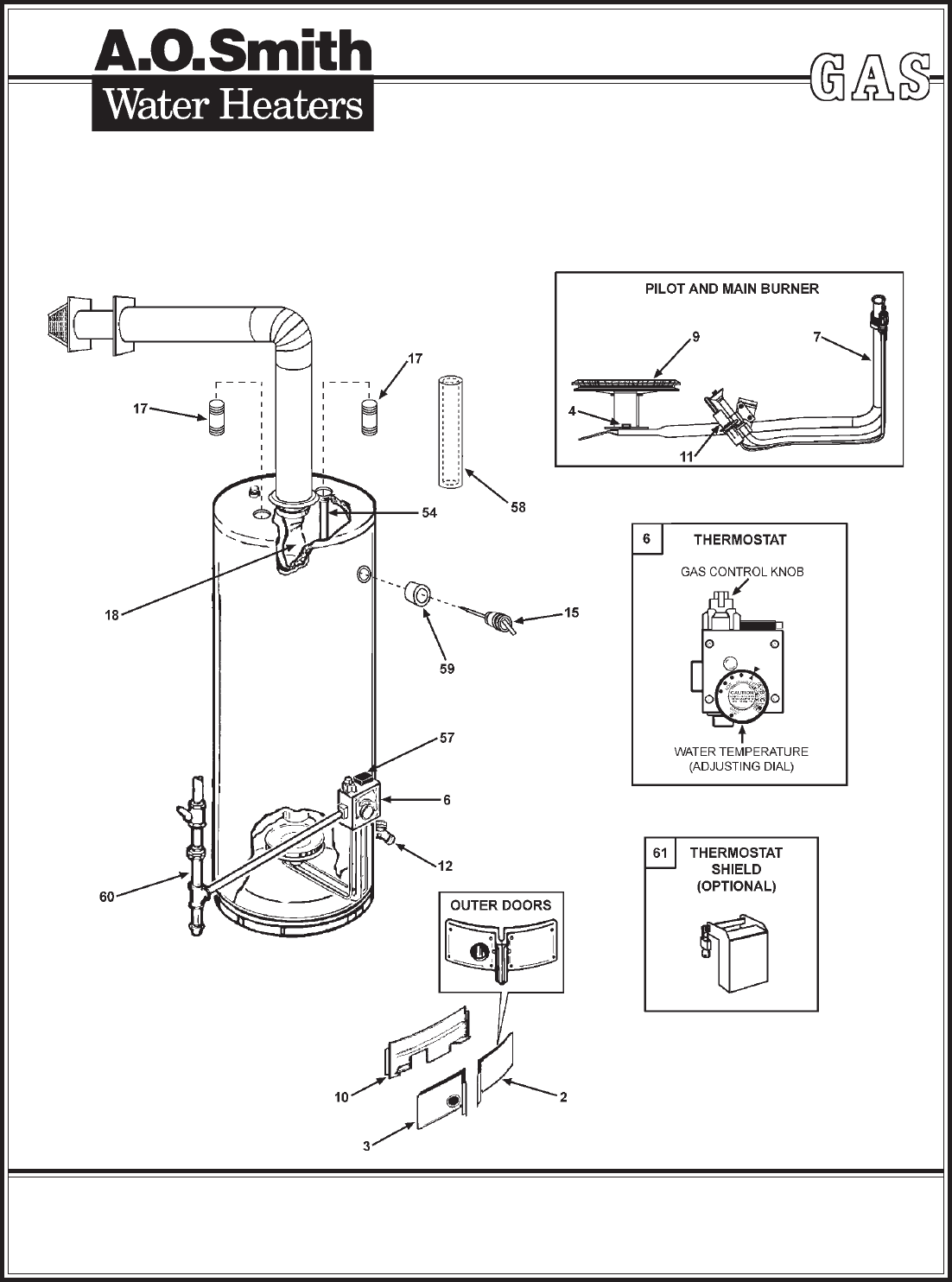 A.O. Smith Water Heater GDVH-50L User Guide