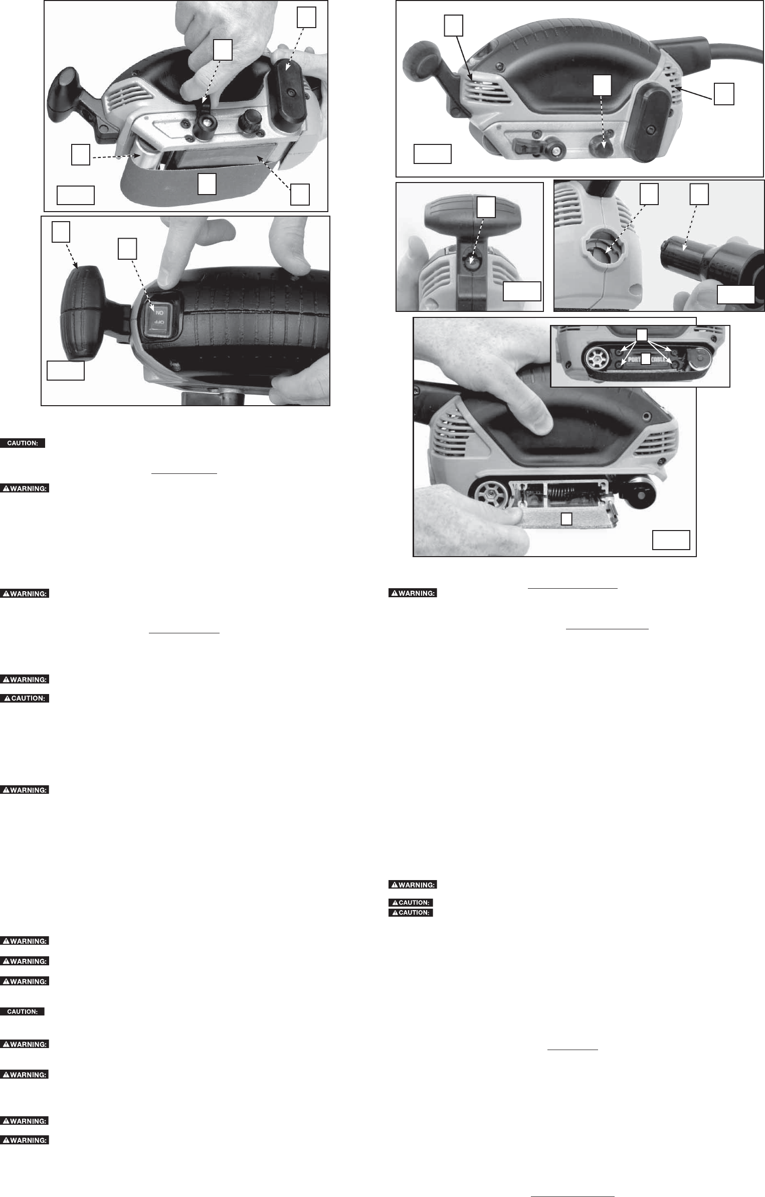 Page 2 of Porter-Cable Sander 371 User Guide