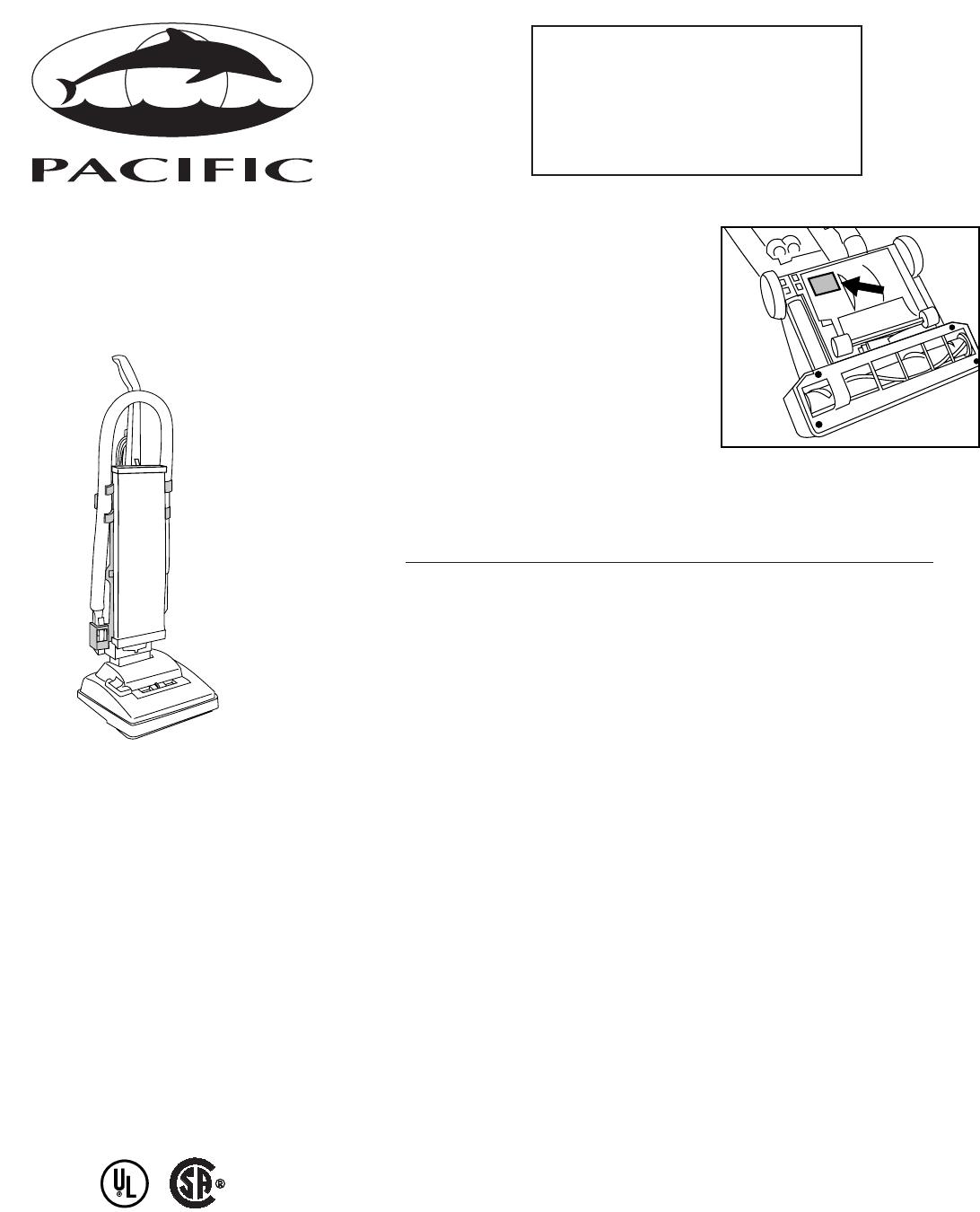 Pacific Digital Vacuum Cleaner Upright Vacuum Cleaner User