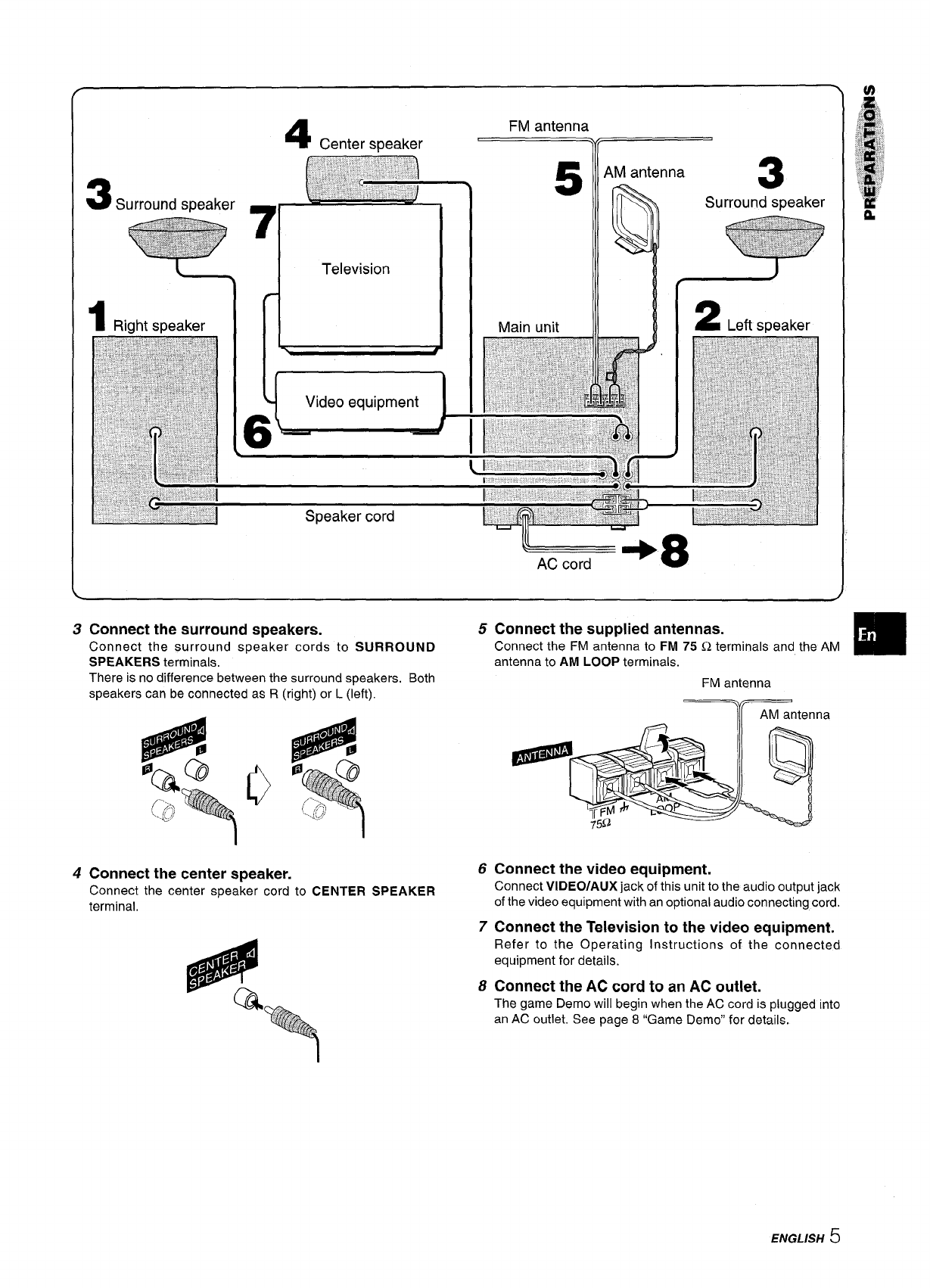 Page 5 of Aiwa Stereo System SX-WNA555 User Guide